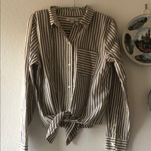 Madewell Striped Button Down Blouse M